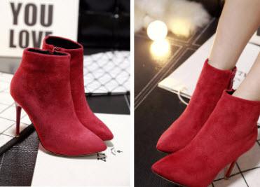 Giày boot nữ gót nhọn