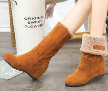 Giày boot nữ nâu