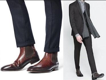 Giày boot và quần tây