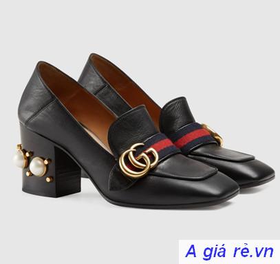 Giày Gucci nữ chính hãng Mid-heel Loafer
