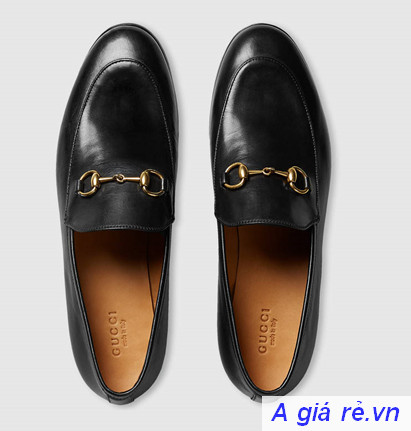 Giày Gucci nam Jordaan leather loafer
