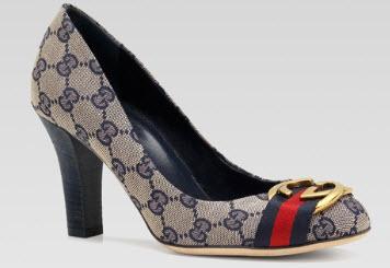 Giày cao gót gucci nữ quai vải