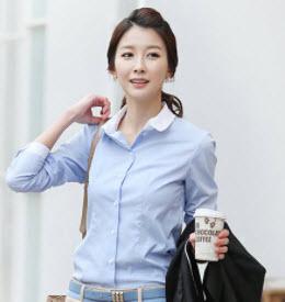 Áo sơ mi nữ Hàn Quốc cổ ráp