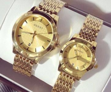 Đồng hồ cặp Gucci đẹp hàng hiệu