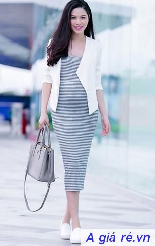 Đầm bầu bó sát - mẫu váy bầu quyến rũ