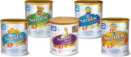 các sản phẩm sữa similac được mua nhiều nhất
