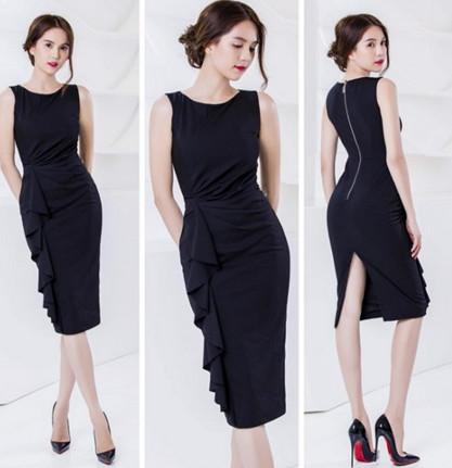 Đầm đen sang chảnh và thu hút