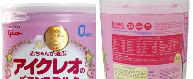 sữa glico nhập khẩu