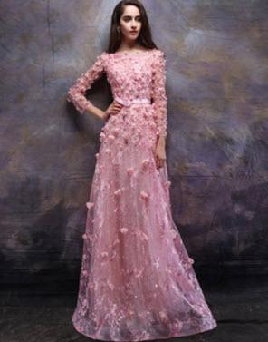 Đầm dạ hội tay dài