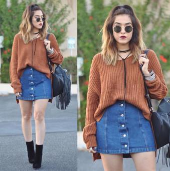 Váy jeans ngắn