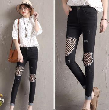 Quần Jeans đen nữ