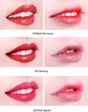 Bảng màu son tint 2 trong 1 Perfect Lips Double Color Tint màu 4-6