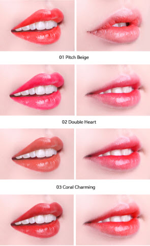 Bảng màu son tint 2 trong 1 Perfect Lips Double Color Tint