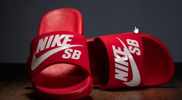 Dép Nike đỏ