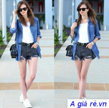 Quần Jeans nữ lưng cao
