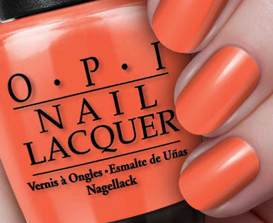 Sơn móng tay Opi màu cam