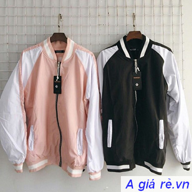 Áo khoác Bomber nữ giá rẻ vải Kaki