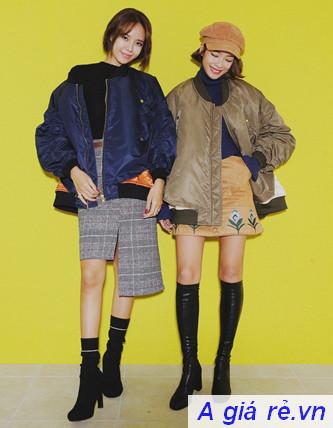Áo khoác Bomber Jacket nữ