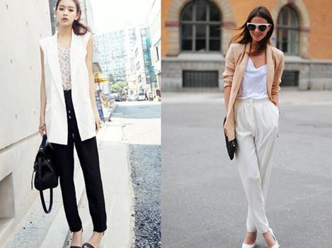 quần baggy nữ công sở