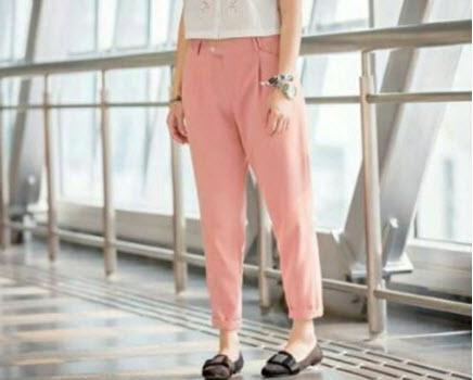 quần baggy nữ vải