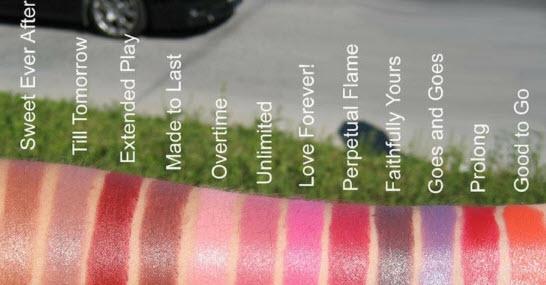 Bảng màu son MacPro Longwear Lipcreme