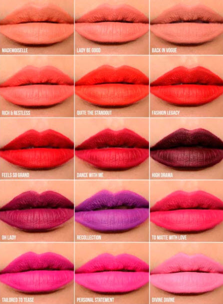 3. Bảng màu son Mac Retro Matte Liquid
