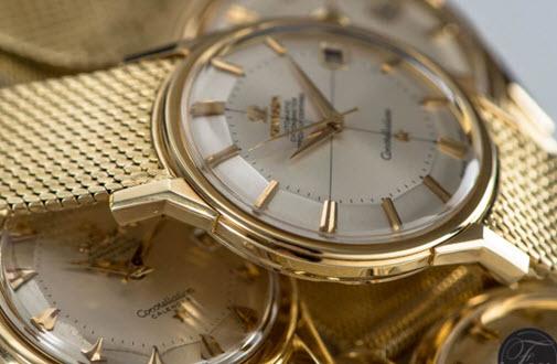 đồng hồ omega cổ mạ vàng