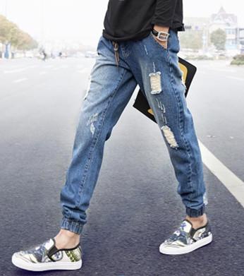 Quần Jeans rách gối nam đẹp