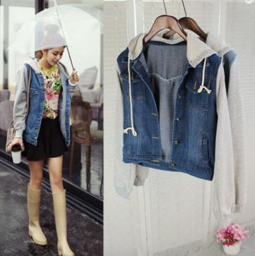 Áo khoác Jeans nữ có nón