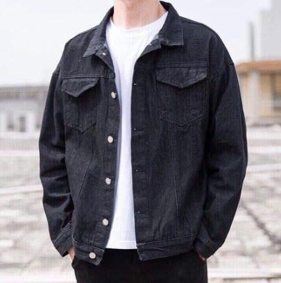 Áo khoác Jeans đen Unisex