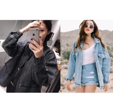 áo khoác Jeans nữ form dài