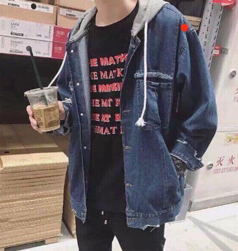 Áo khoác Jeans nam có nón giá tốt
