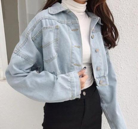 Áo khoác Jeans lửng