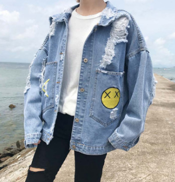 Áo khoác Jeans Oversize nam