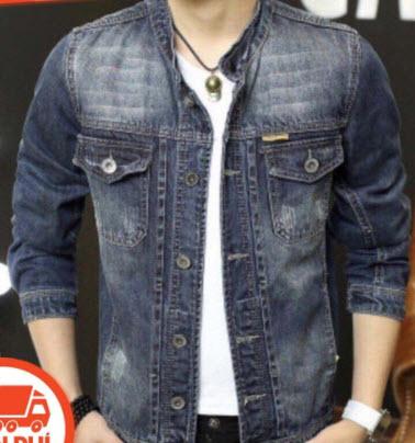 Áo khoác Jeans rách mài