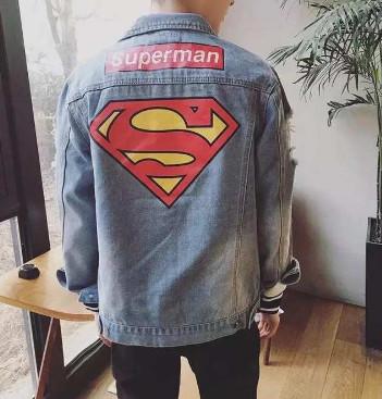 Áo khoác Jeans nam superman