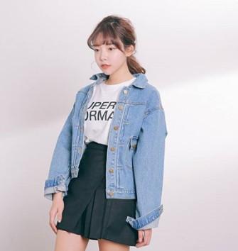 Áo khoác Jeans nữ lửng