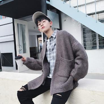 Áo khoác len nam không mũ dáng dài