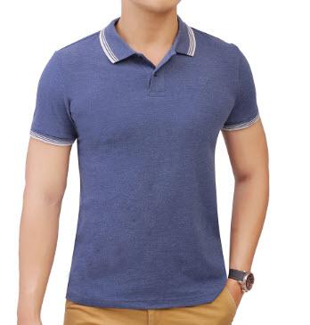 Áo thun Polo nam màu xanh