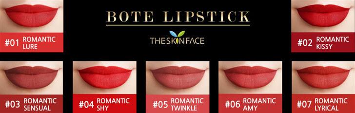 Bảng màusonThe Skin Face Bote Lipstick 2018