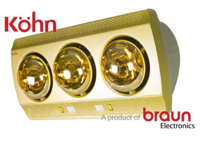 đèn sưởi nhà tắm Kohn Braun