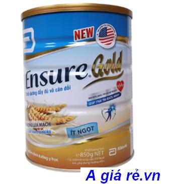 Sữa Ensure Gold ít ngọt hương lúa mạch