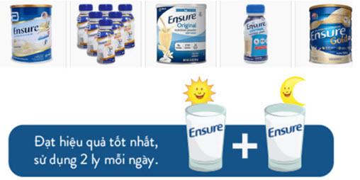 Uống sữa Ensure đúng cách
