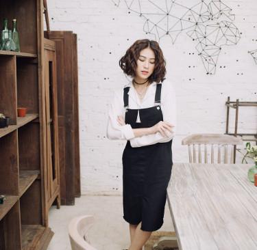 Váy yếm Jean Hàn Quốc