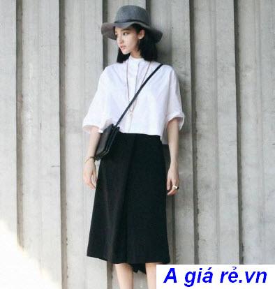 Chân váy Midi đen