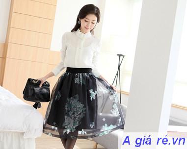 Chân váy xòe Hàn Quốc