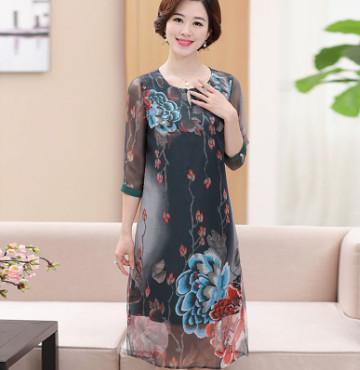 Đầm suông trung niên