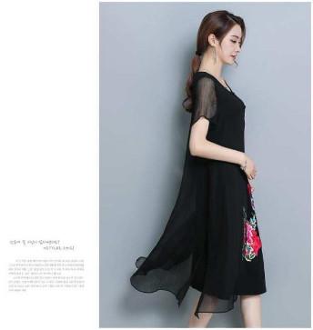 Đầm suông voan đẹp