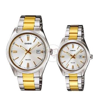 Đồng hồ Casio cặp mạ vàng