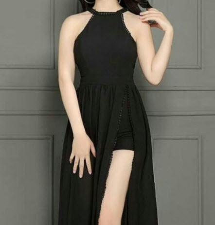Váy cổ yếm đẹp
